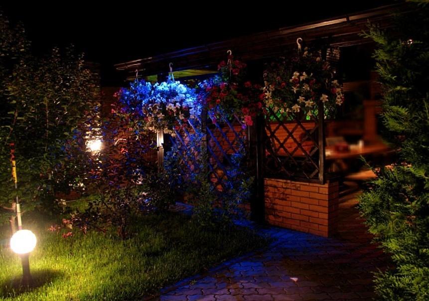 изображение подсветки веранды