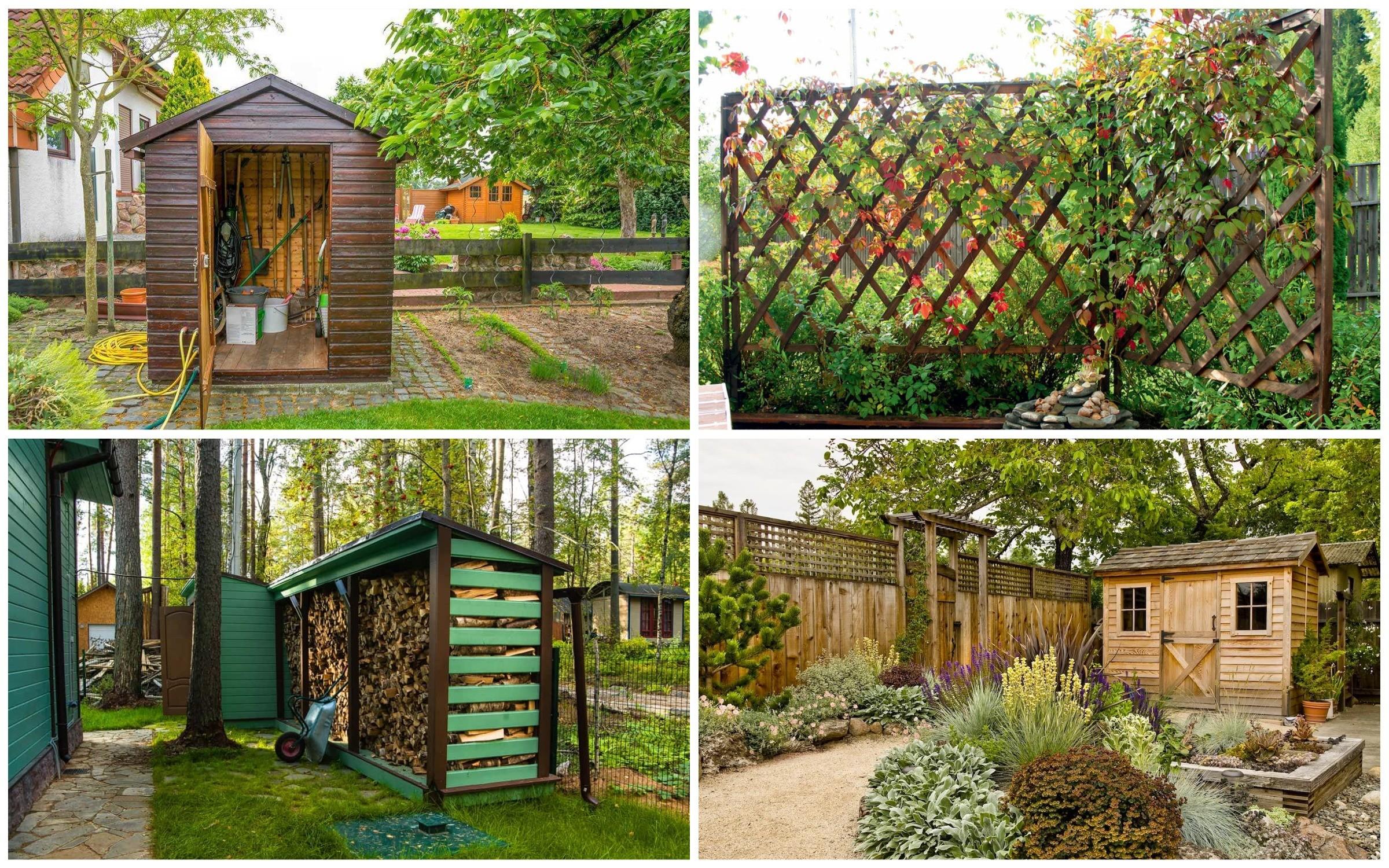 изображение хозяйственной зоны на садовом участке