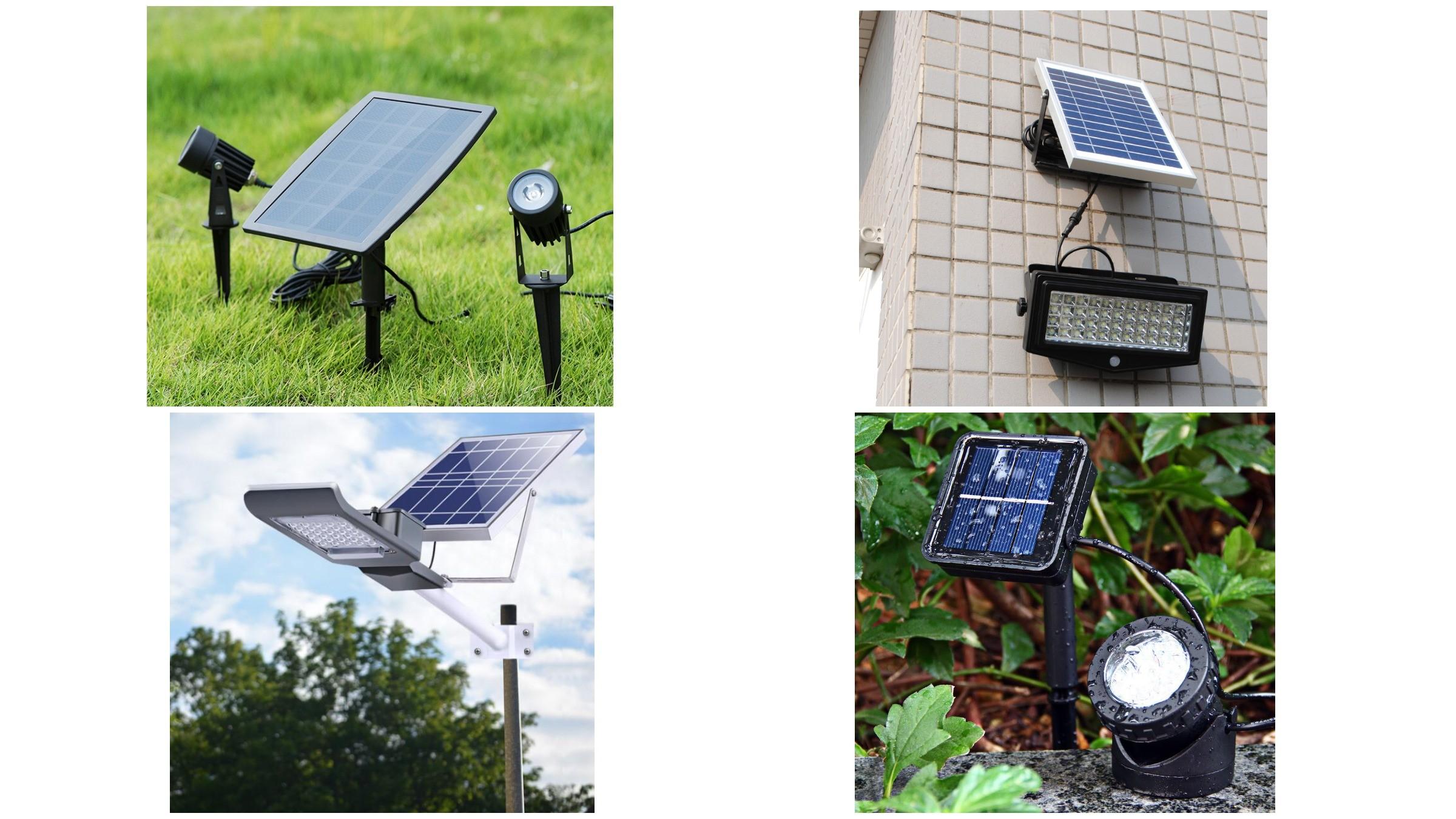 изображение уличных светильников на солнечных батареях