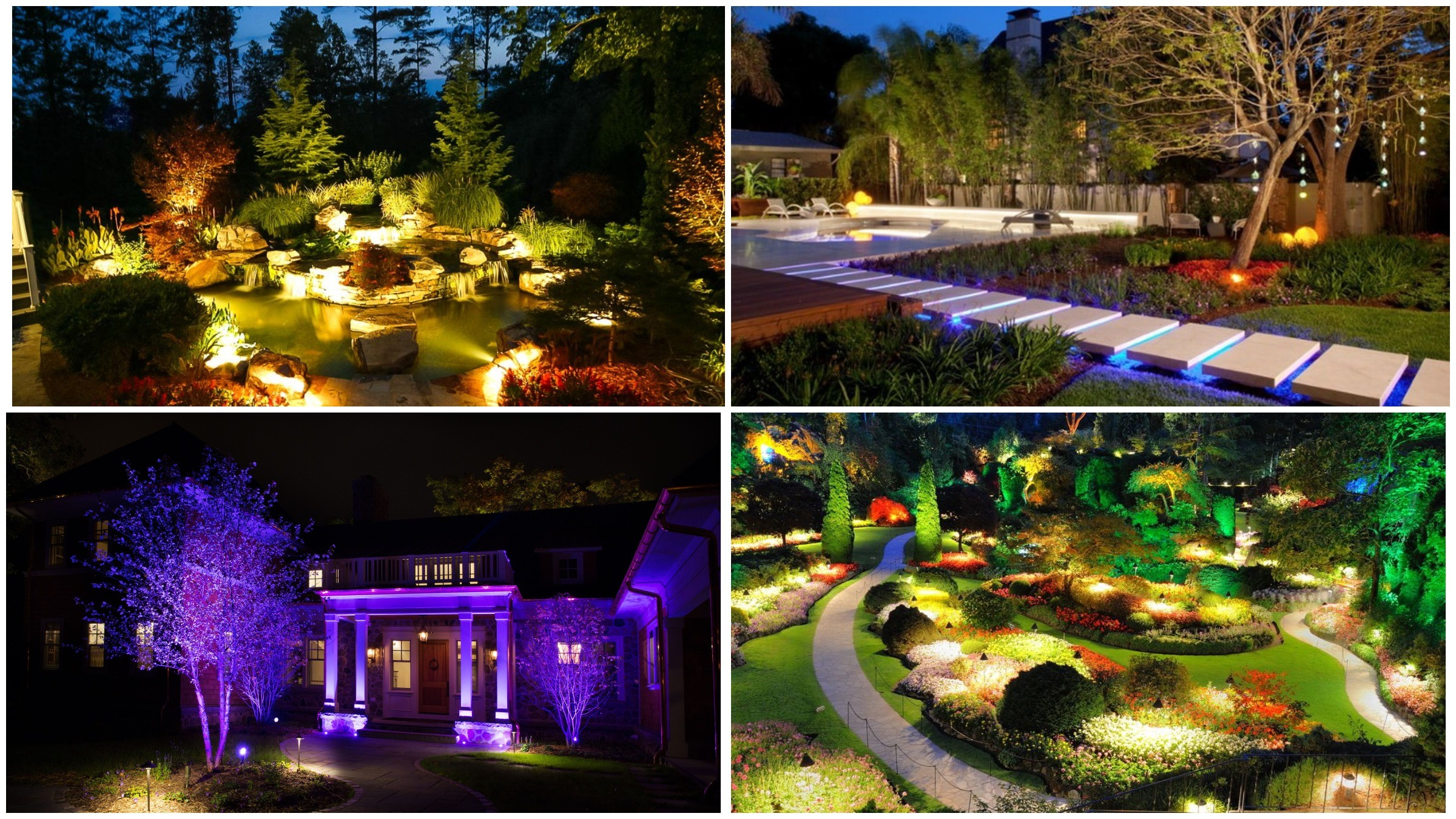 изображение разнообразия подсветок парка и сада