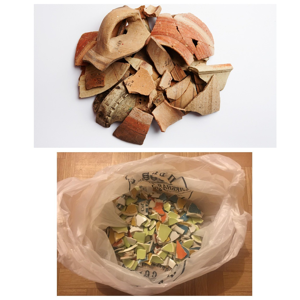 изображение битой керамики для дренажа