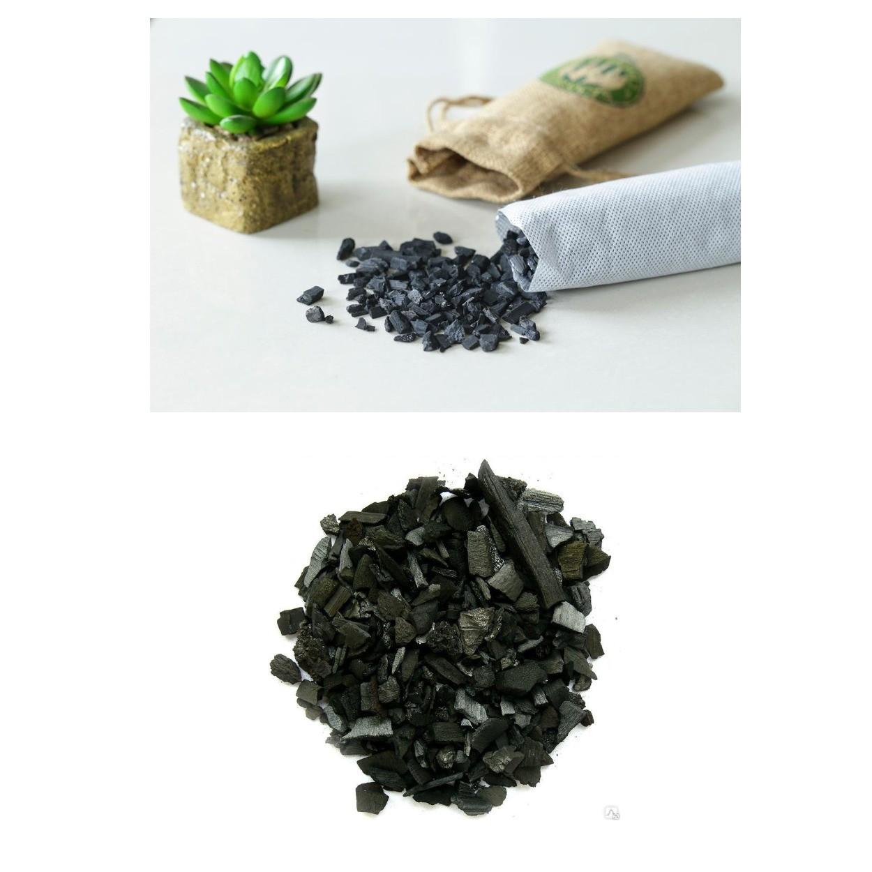 изображение древесного угля для дренажа растений