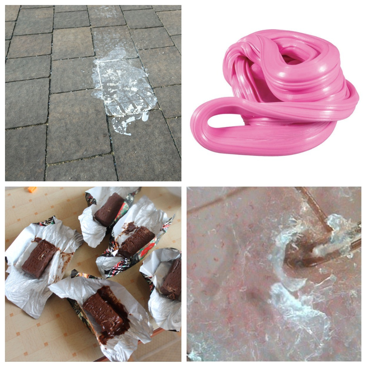изображение липких продуктов на тротуарной плитке