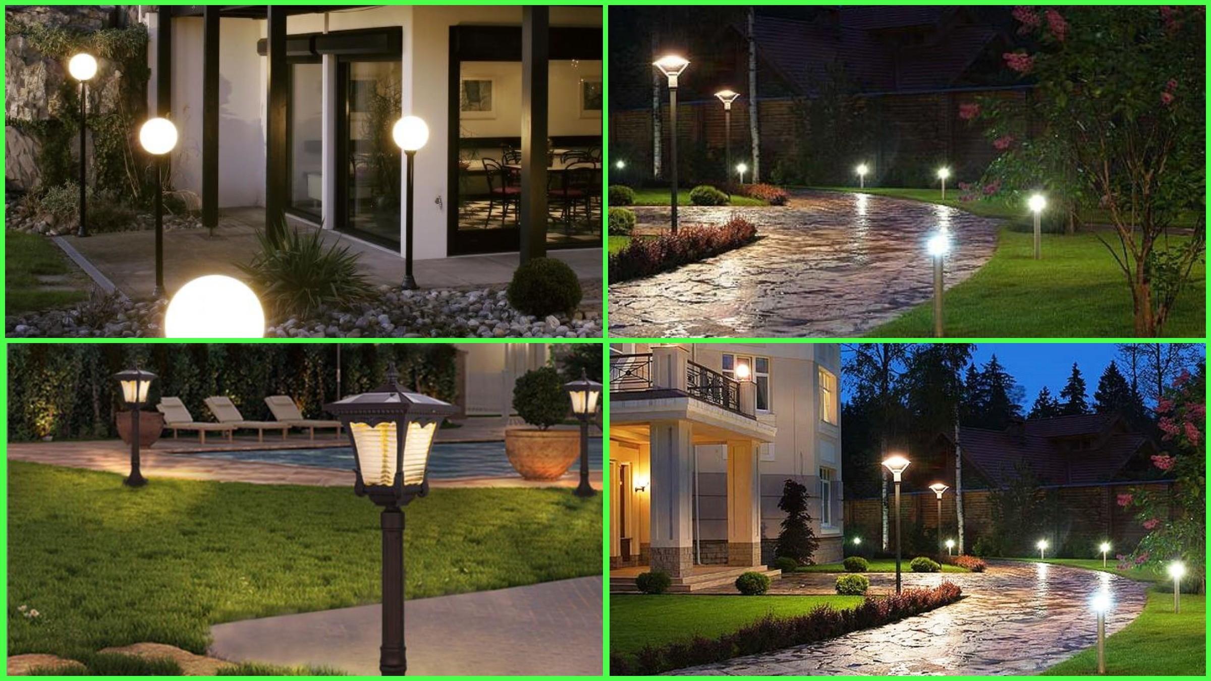 изображение торшерных уличных светильников