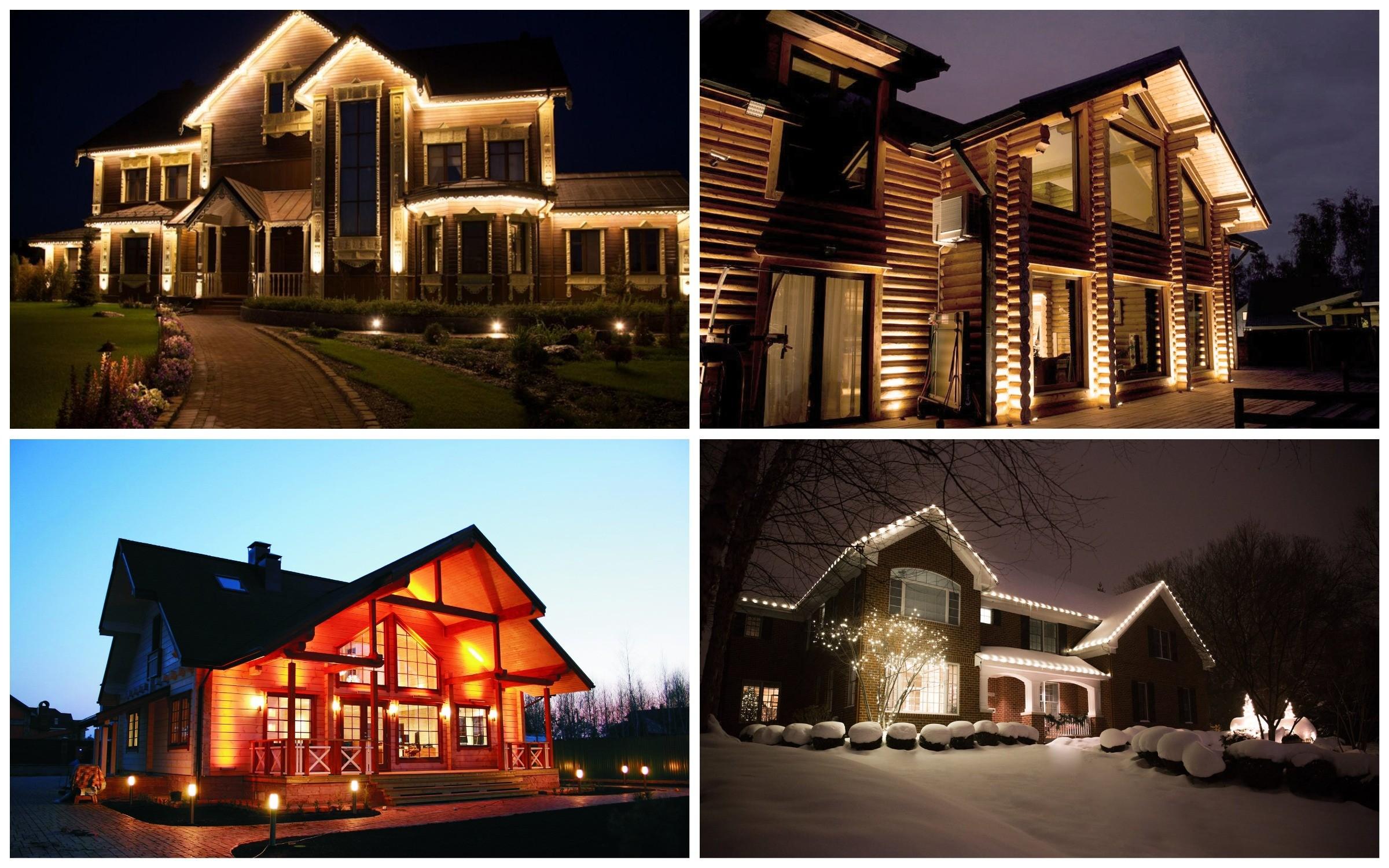 изображение подсветки дома