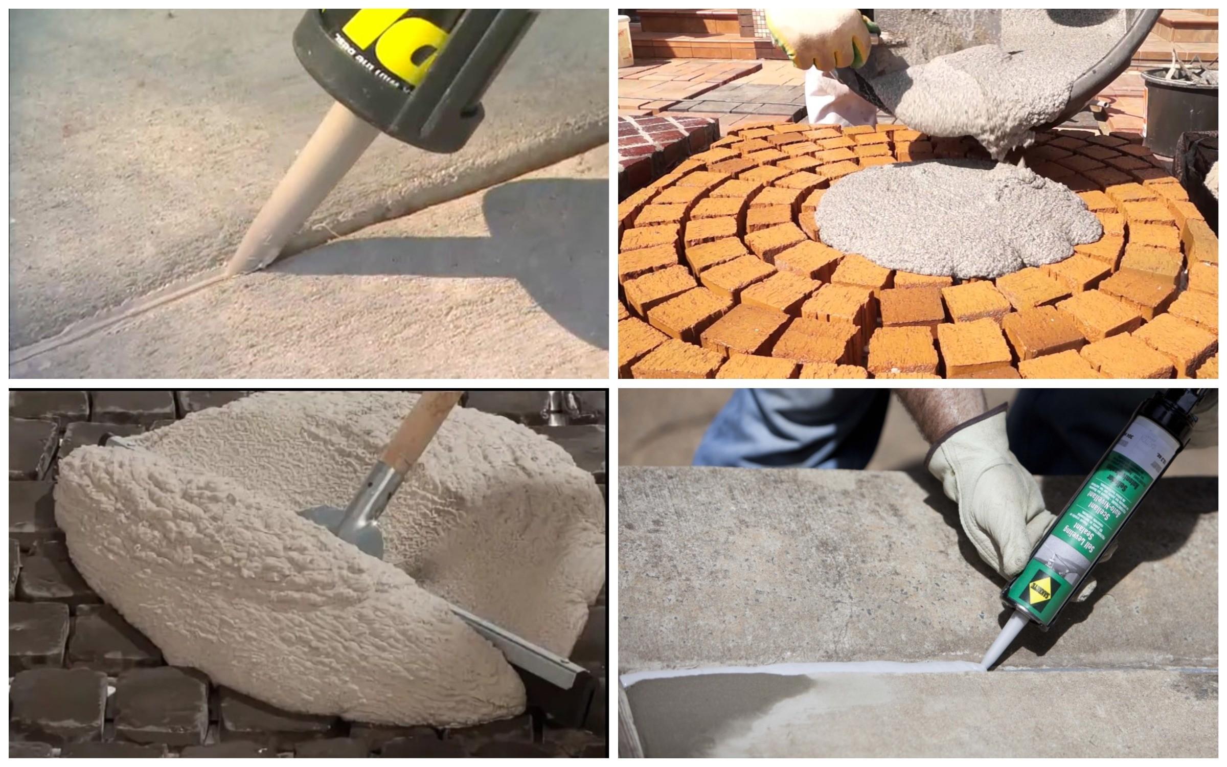изображение водонепроницаемых растворов и герметиков для герметизации швов тротуарной плитки
