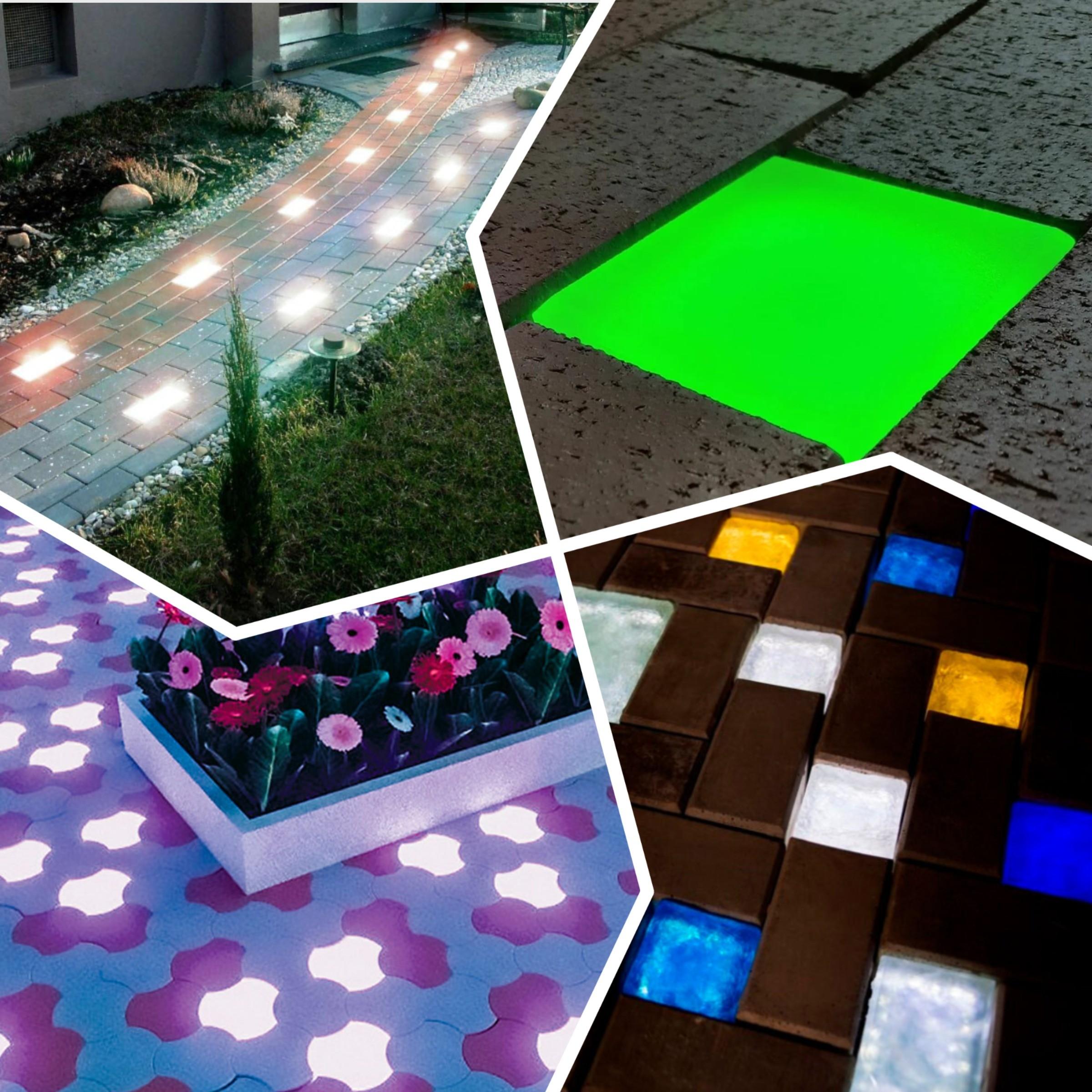 изображение светящейся тротуарной плитки
