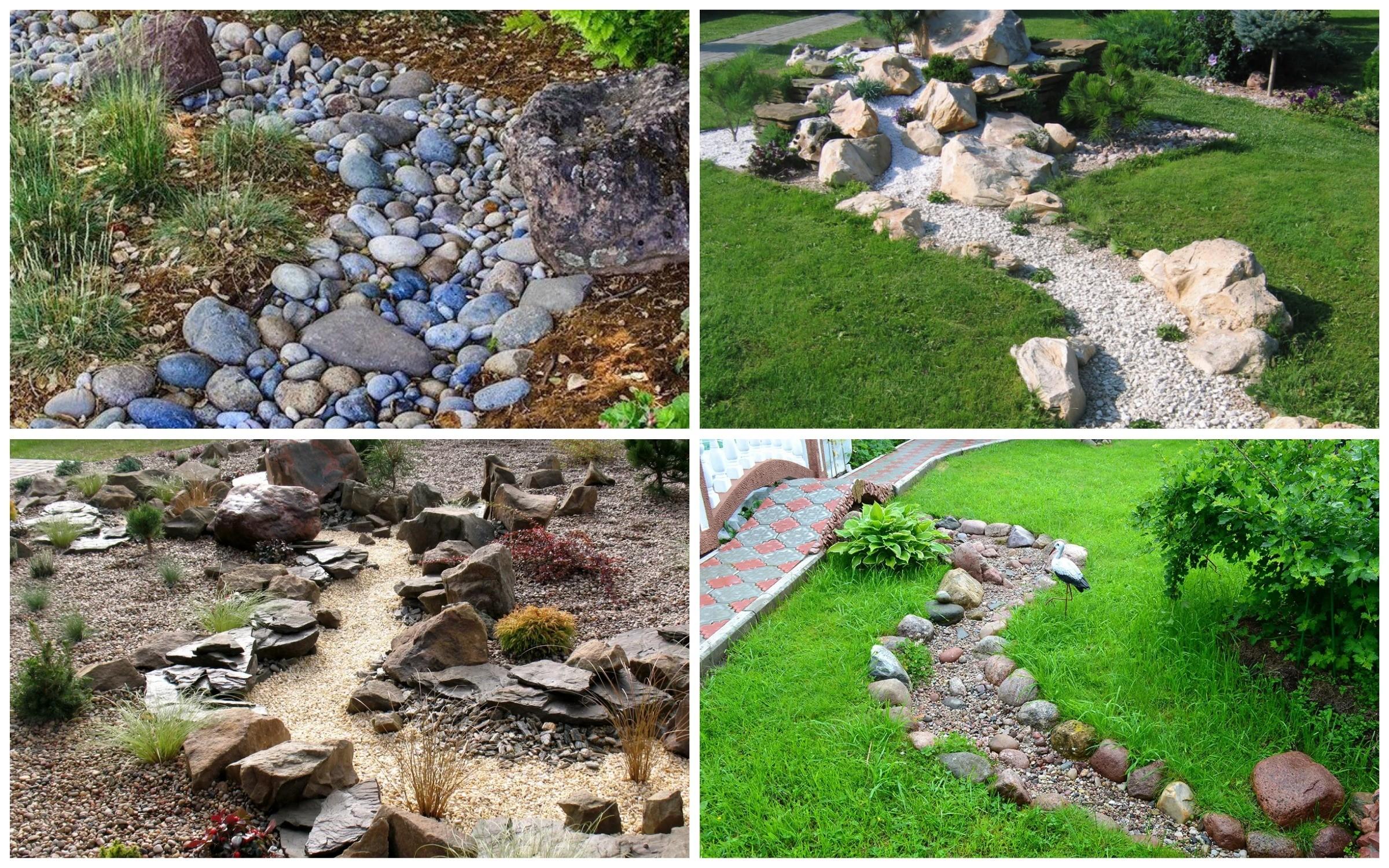 изображение сухого ручья из камней
