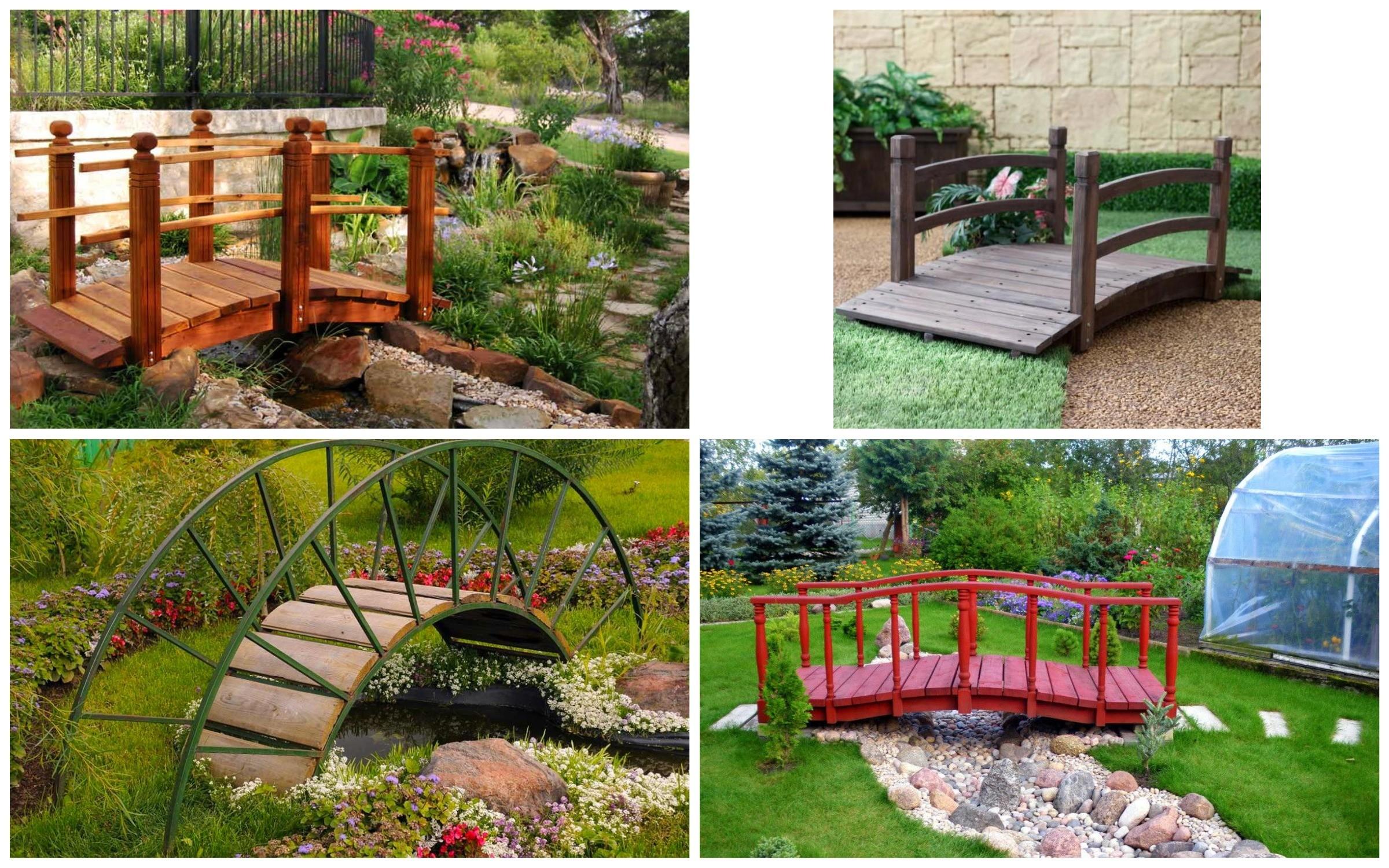 изображение мостов в саду