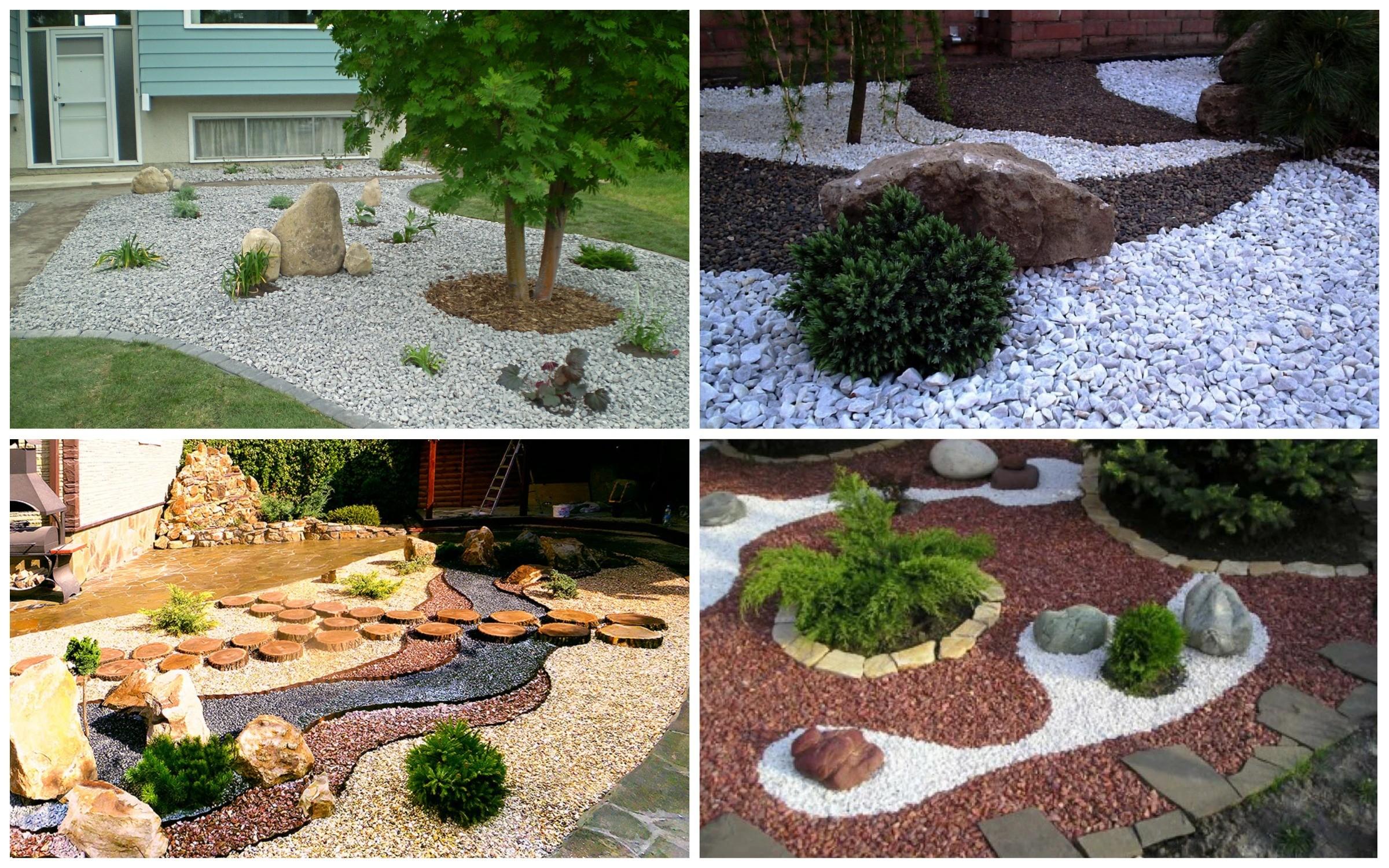 изображение декоративных отсыпок в саду