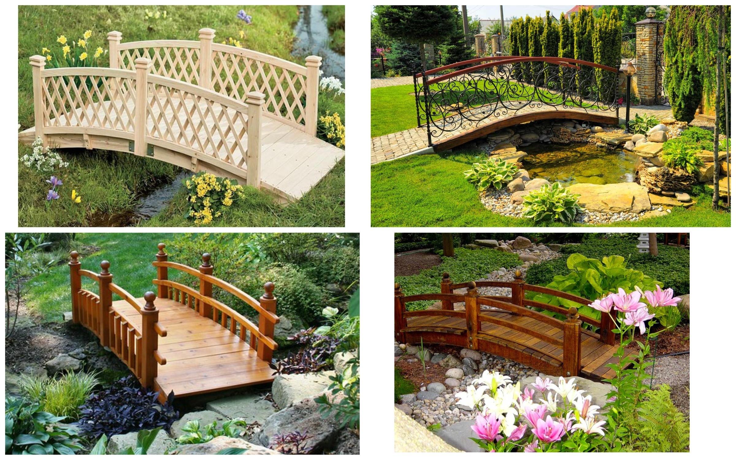 изображение мостика как декор сада