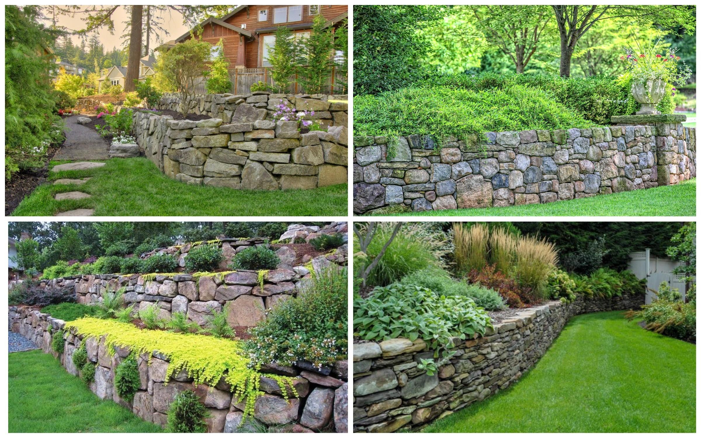 изображение каменных подпорных стен