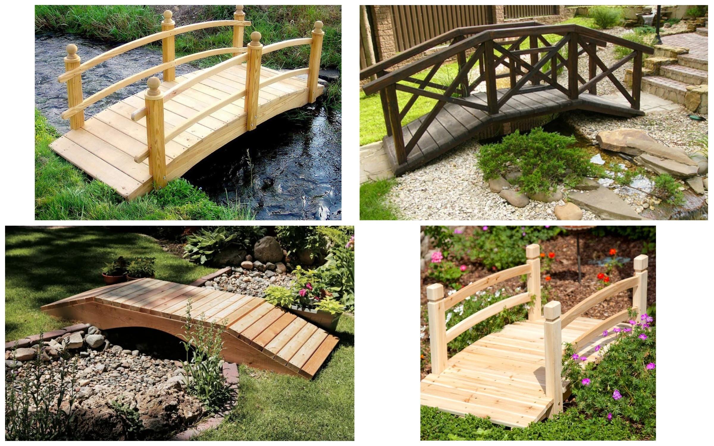 изображение мостиков для сада из дерева