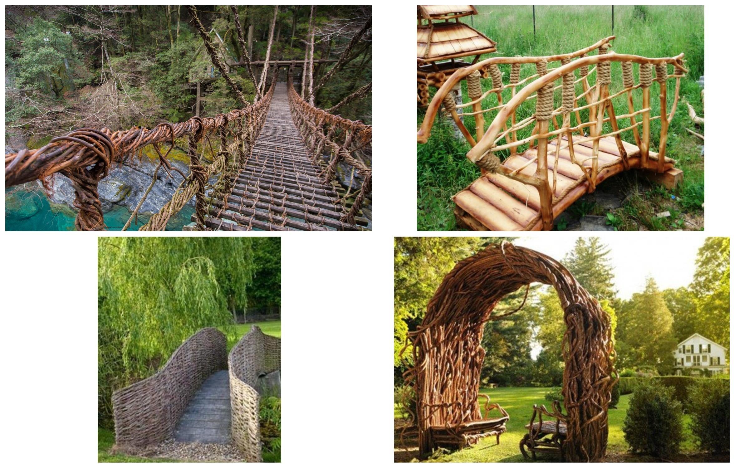 изображение мостика из лозы
