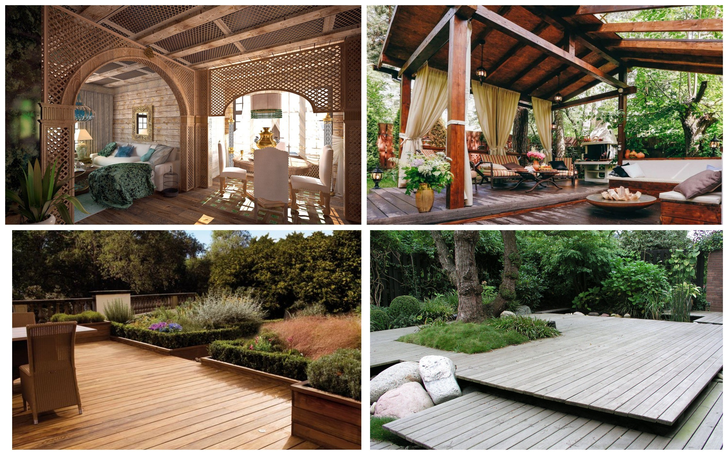 изображение деревянного настила в разных стилях