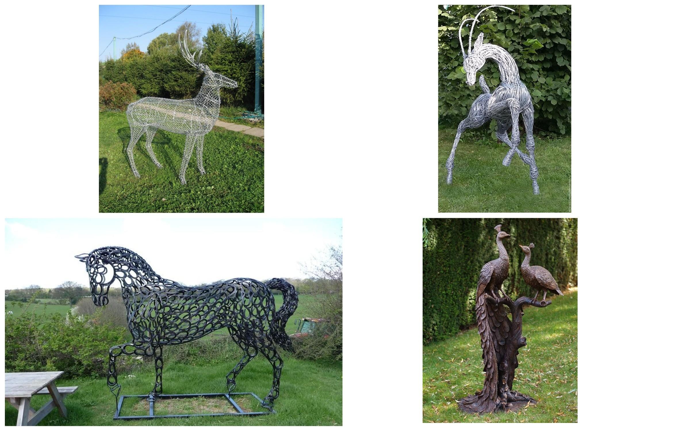 изображение скульптур из металла и проволки