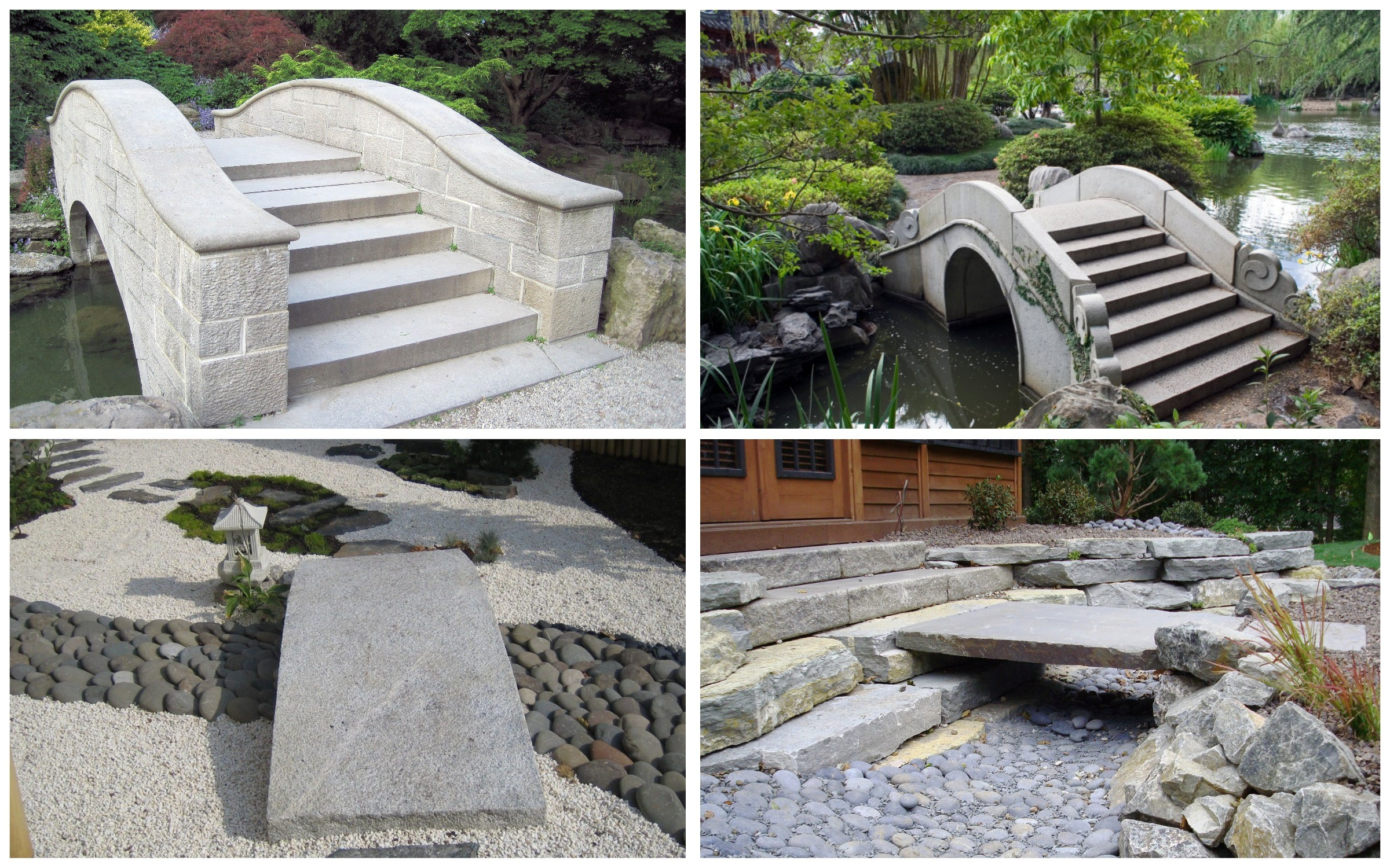 изображение бетонного мостика в саду