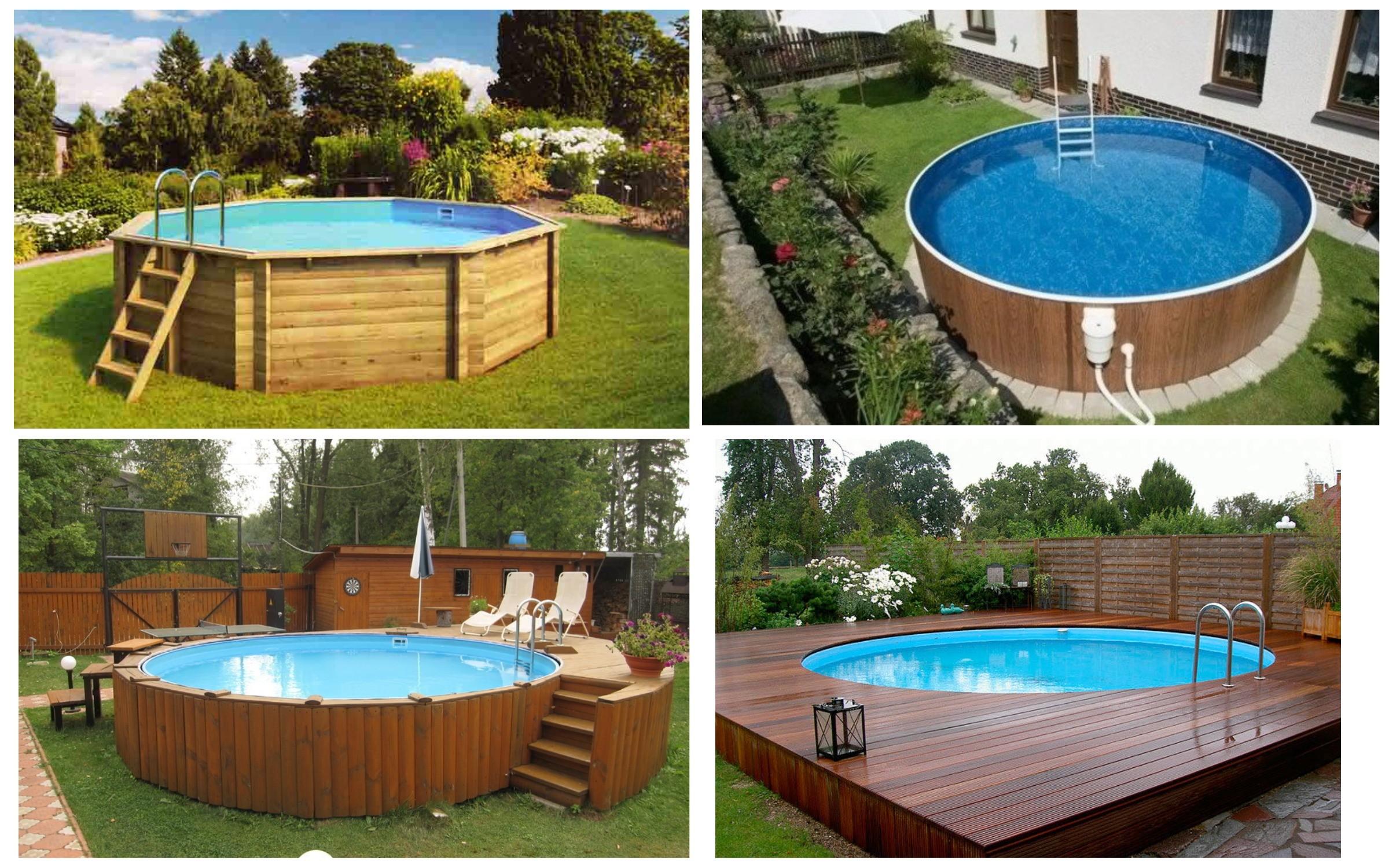 фотография деревянного бассейна для дачи