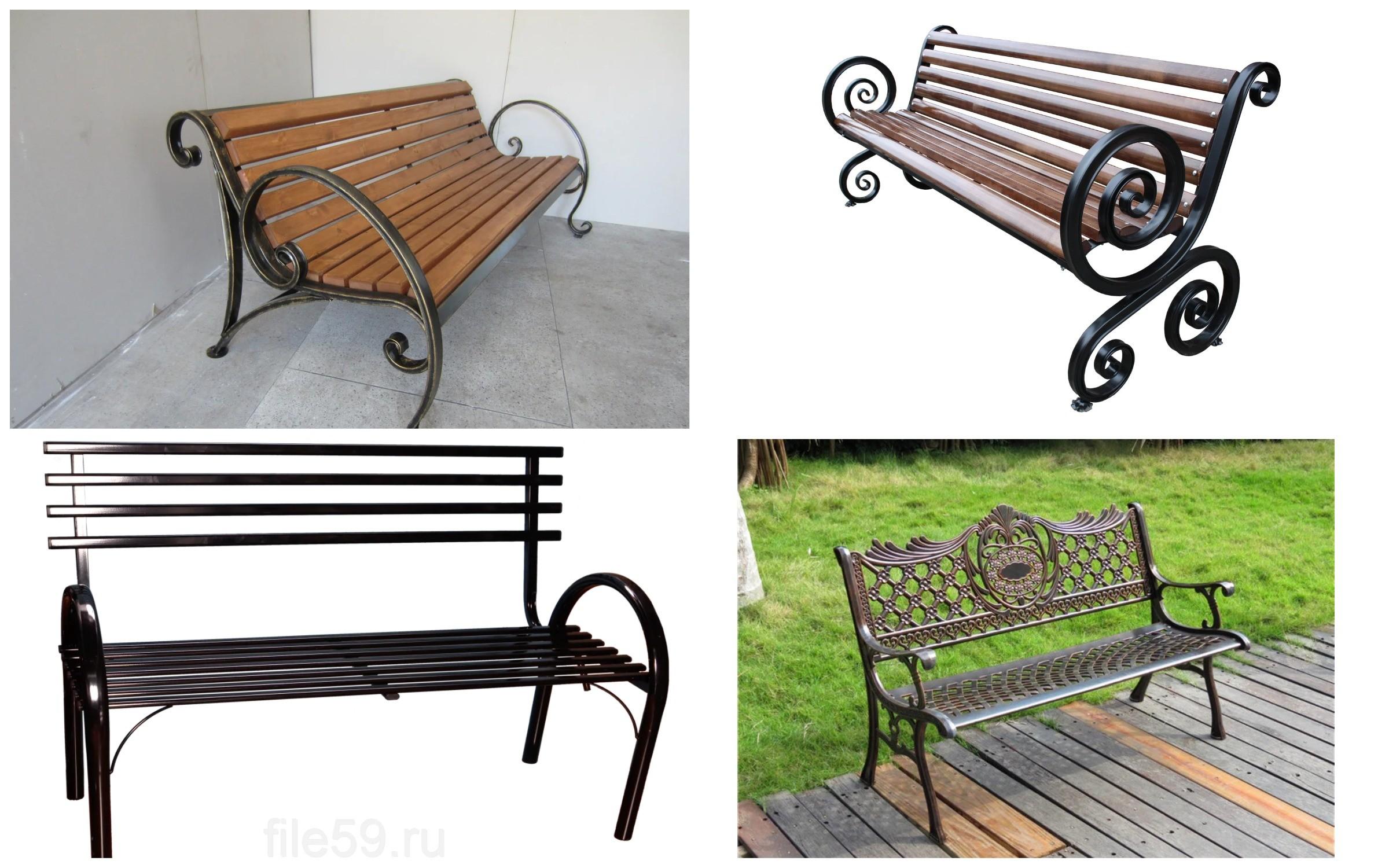фото скамейки из металла