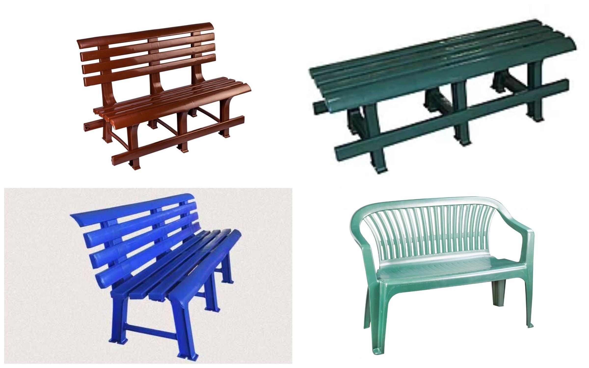 фото скамейки из пластика
