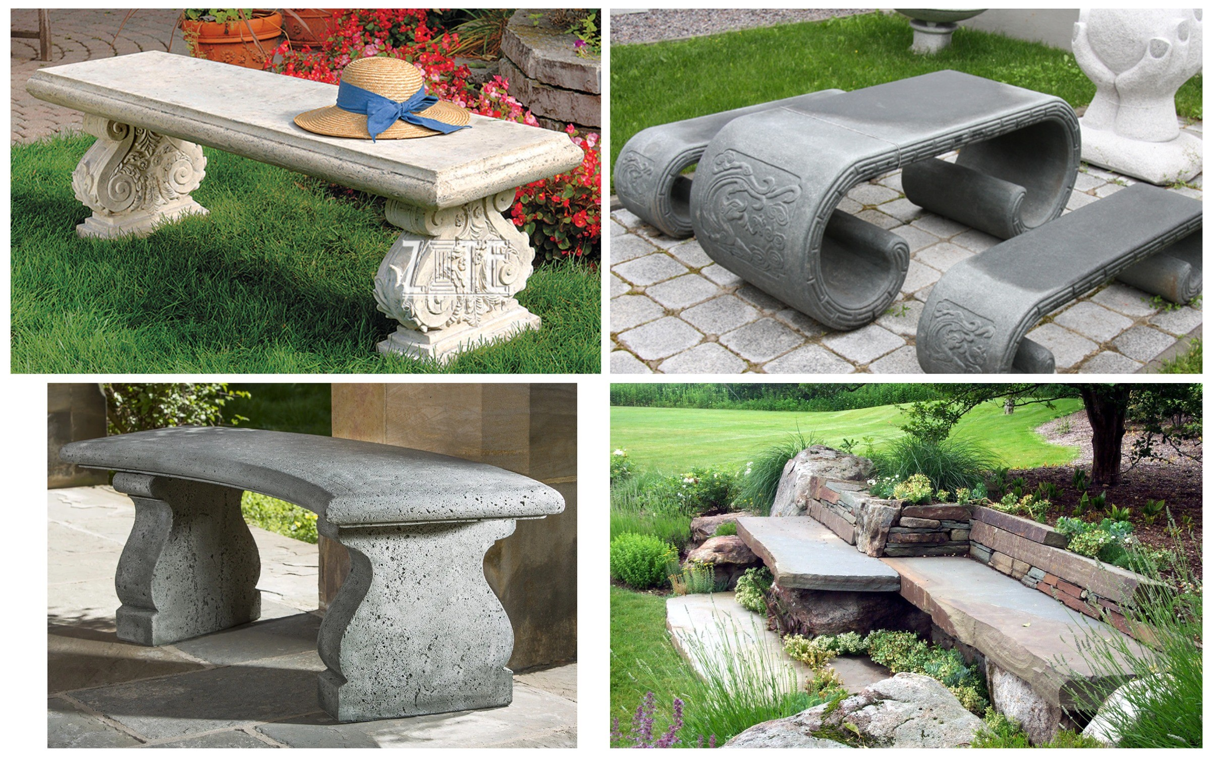 изображение скамейка из камня