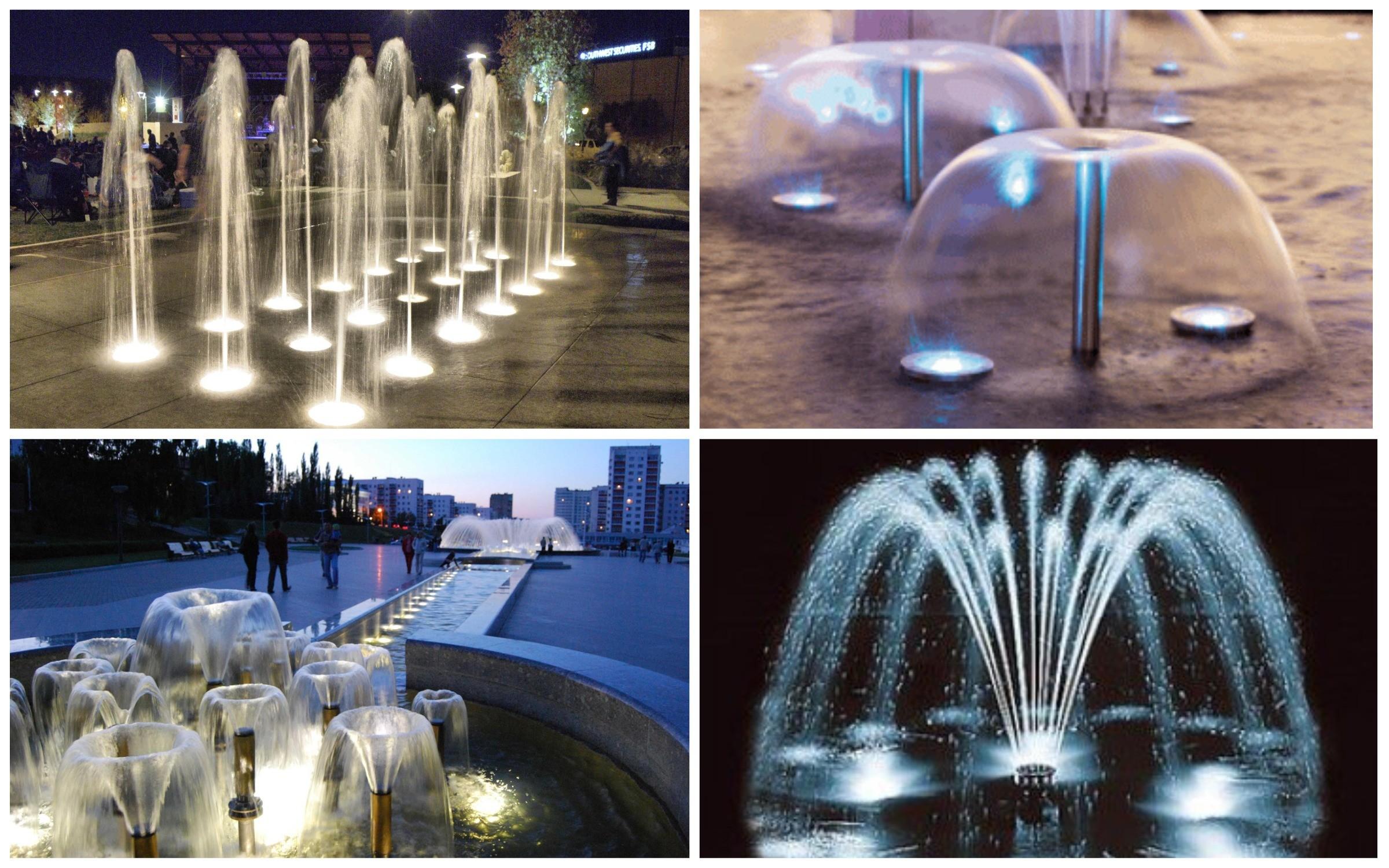 изображение разновидности фонтанов в саду
