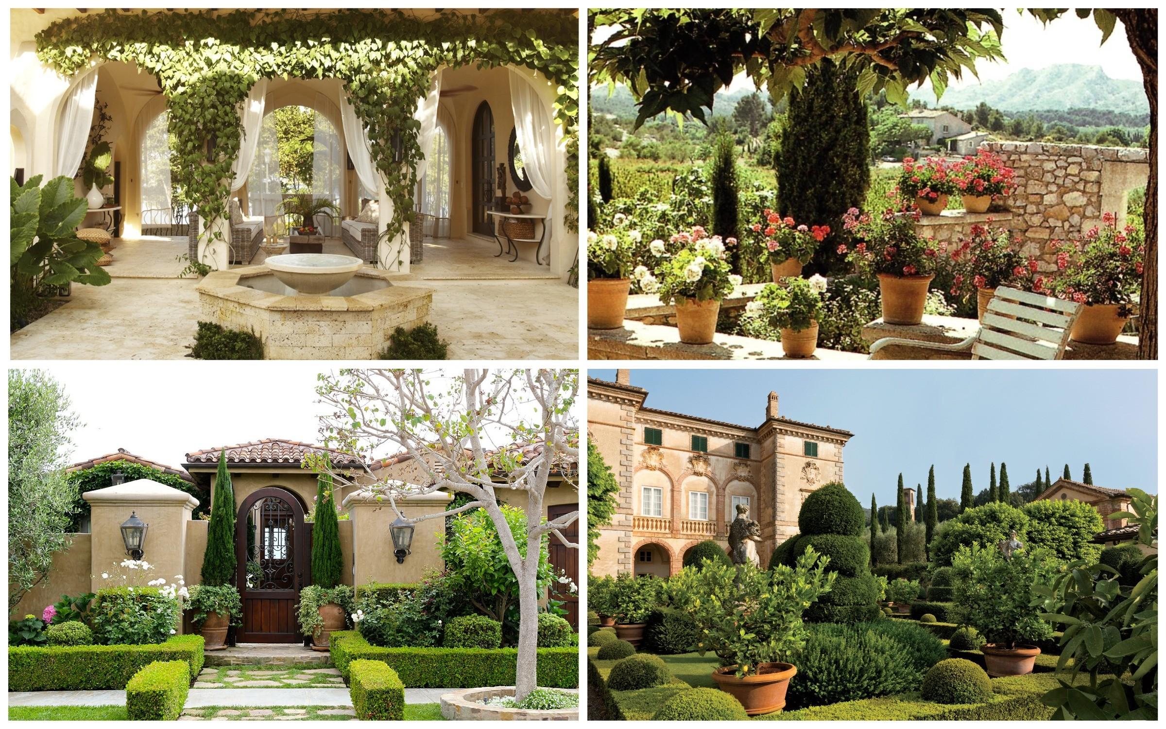 фото сад в итальянском стиле