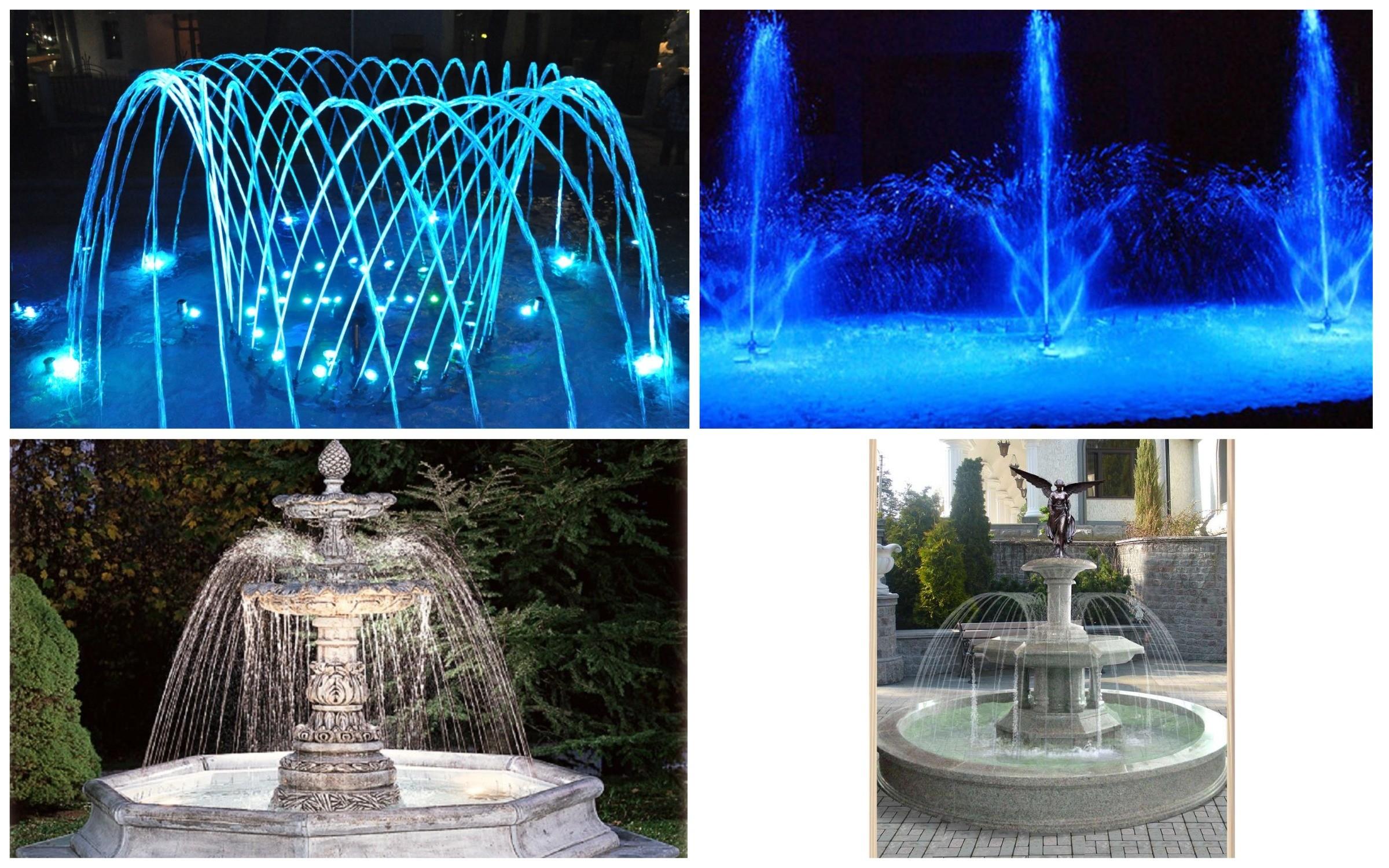 фото разные варианты фонтанов