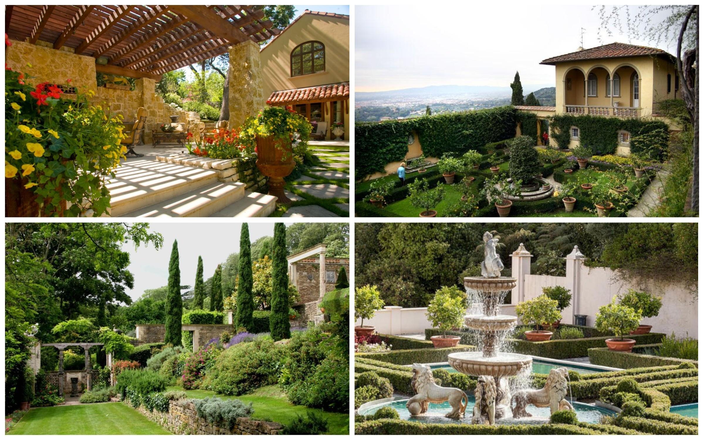 фото декора итальянского сада