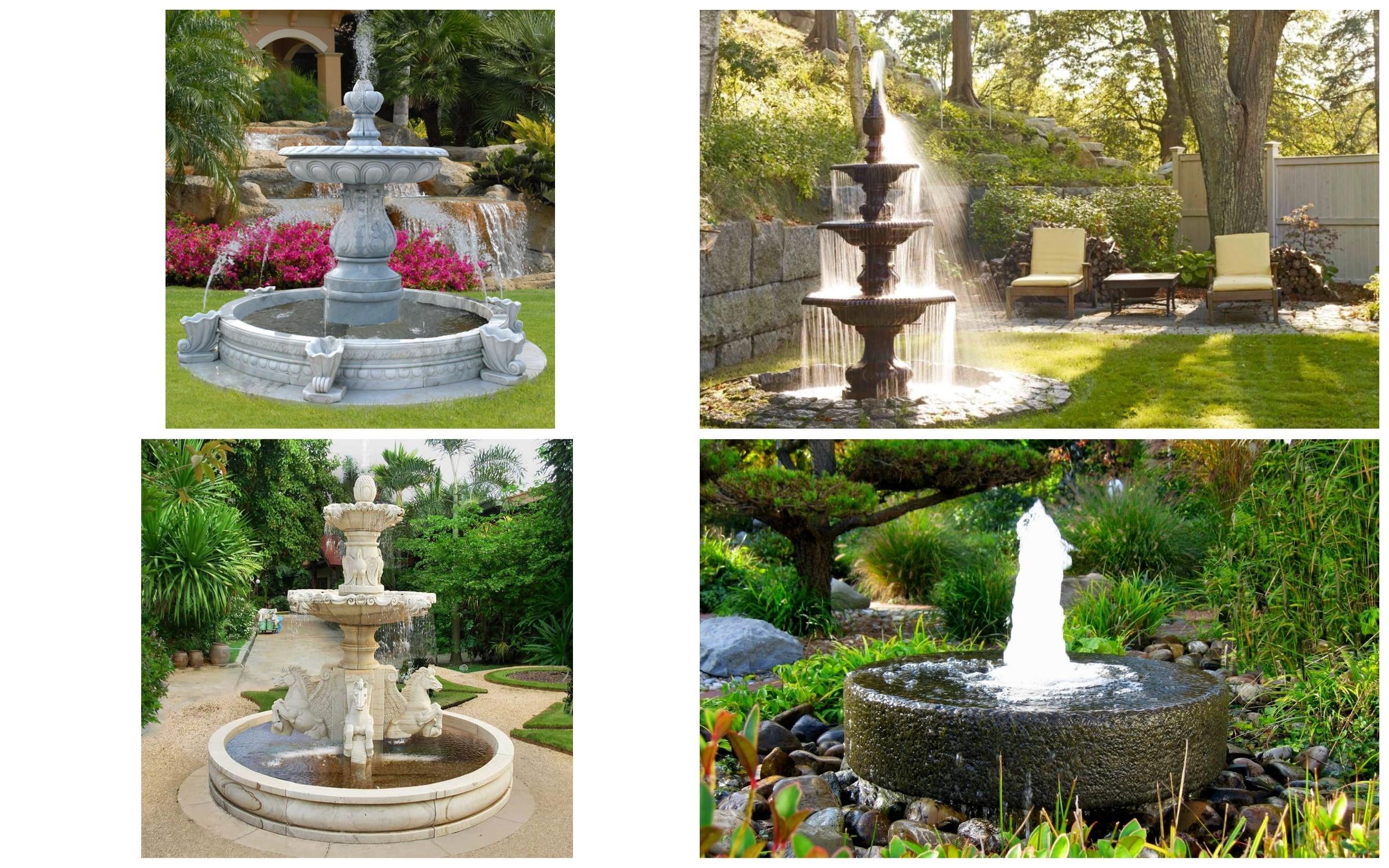 изображение красивые фонтаны в саду