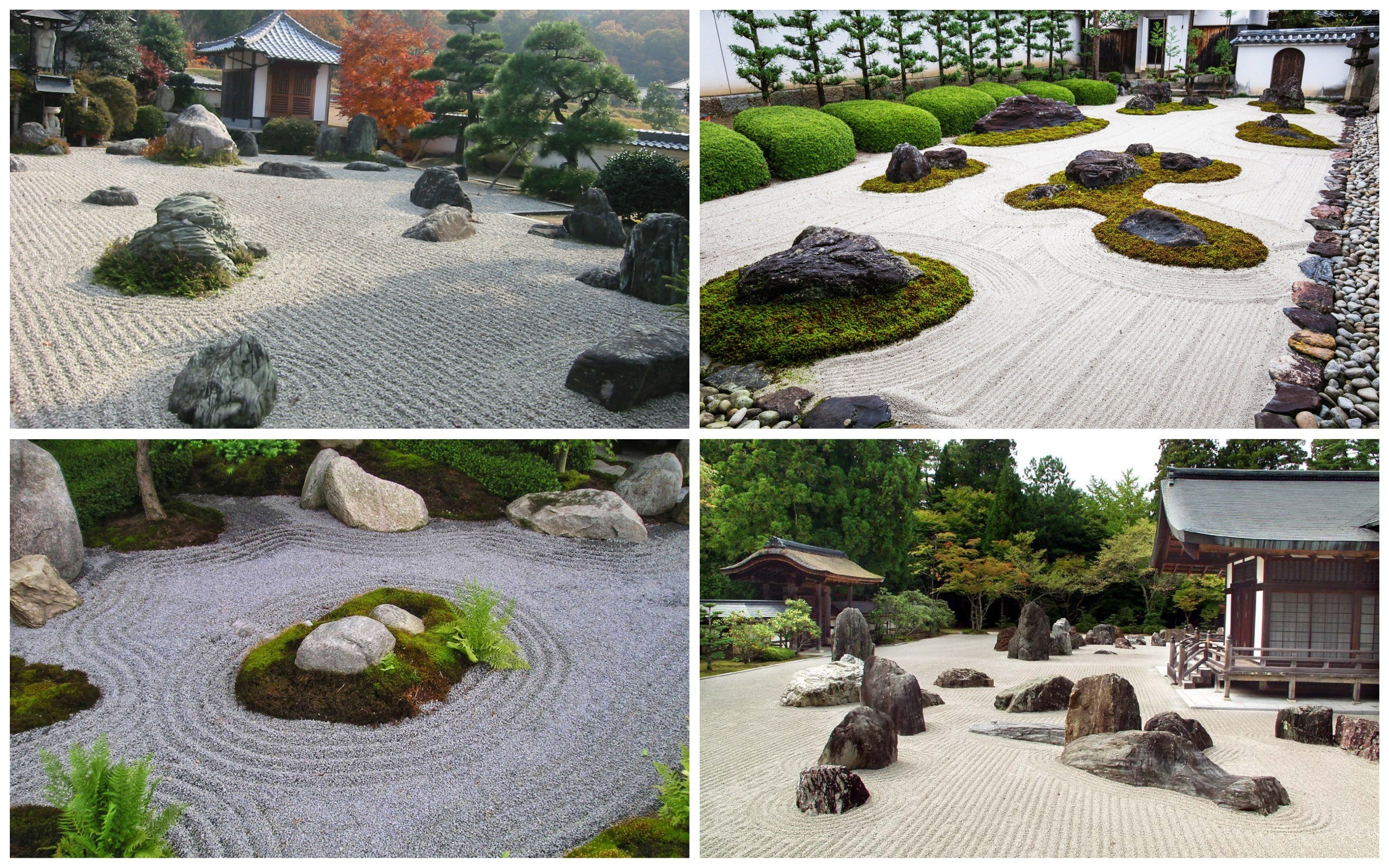 фото каменный японский сад