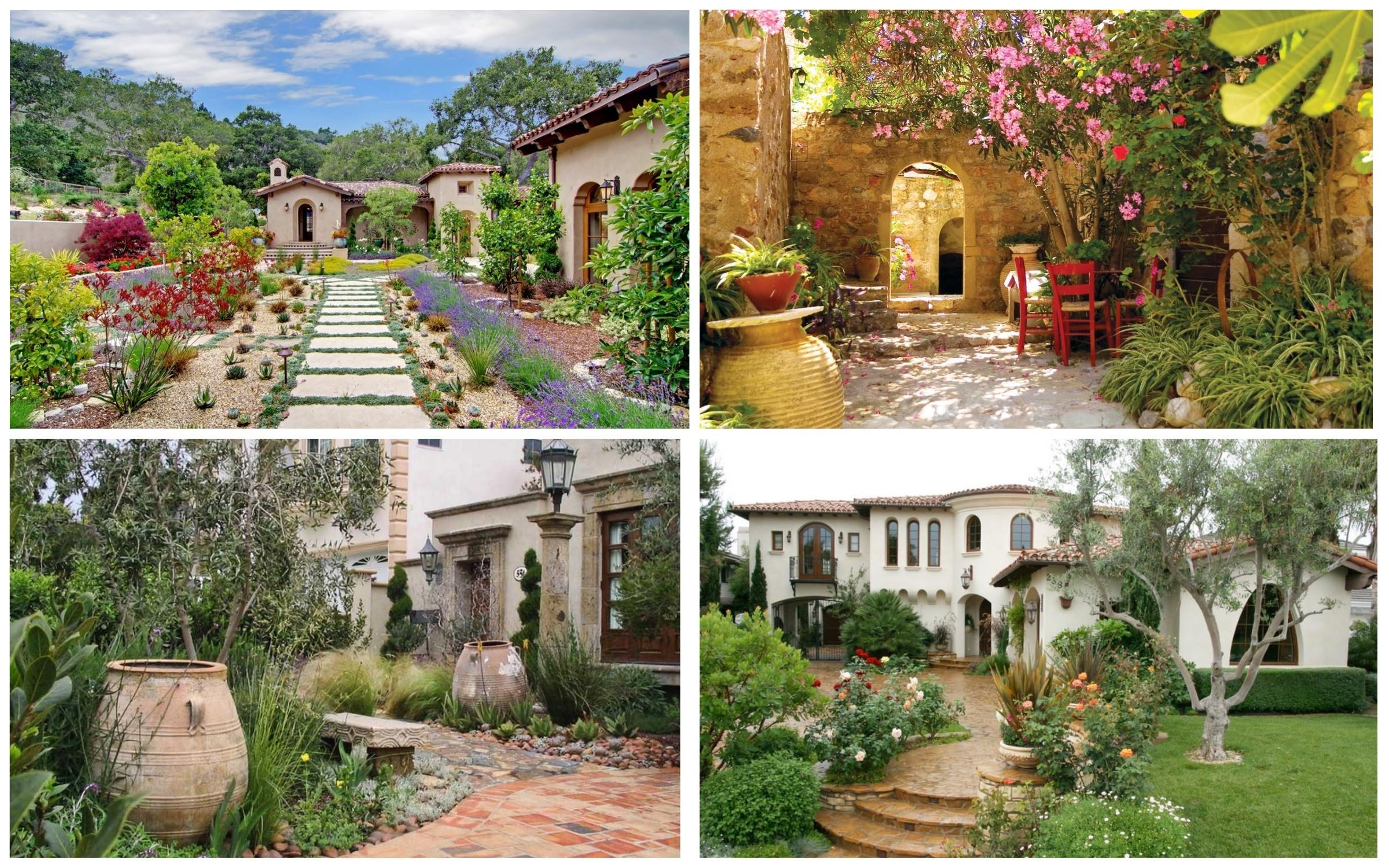 фото средиземноморского стиля сада