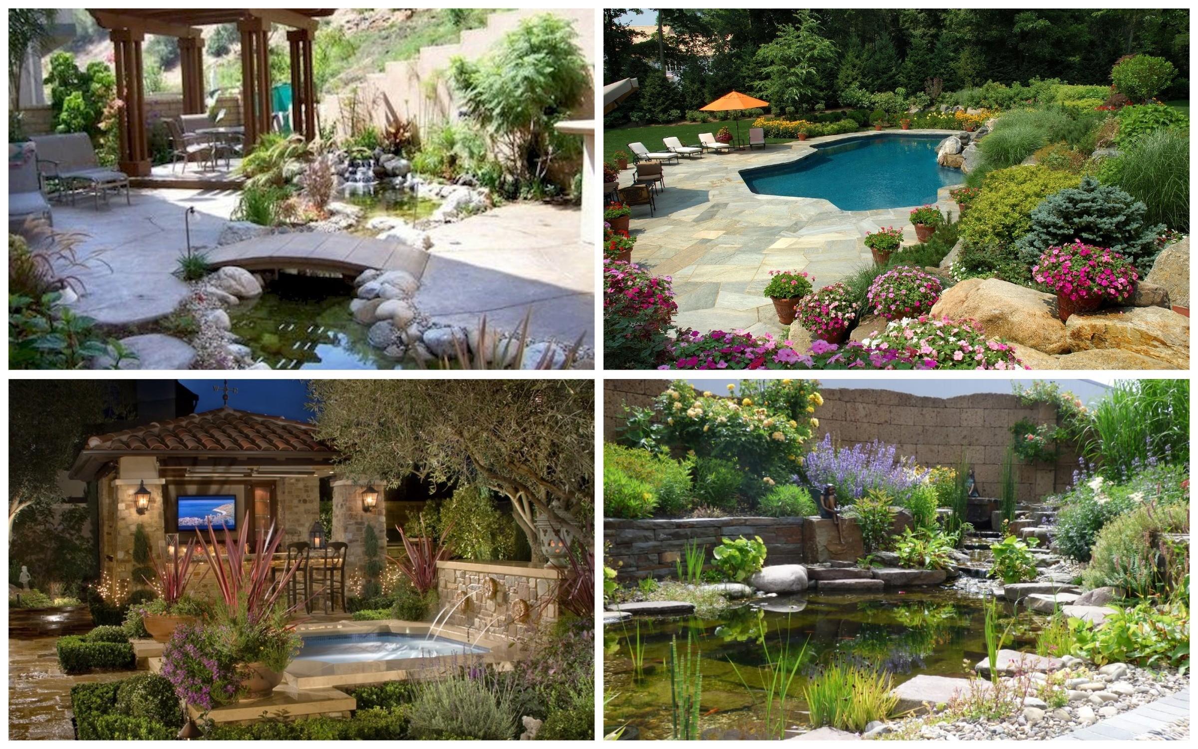 изображение водоема в итальянском стиле сада