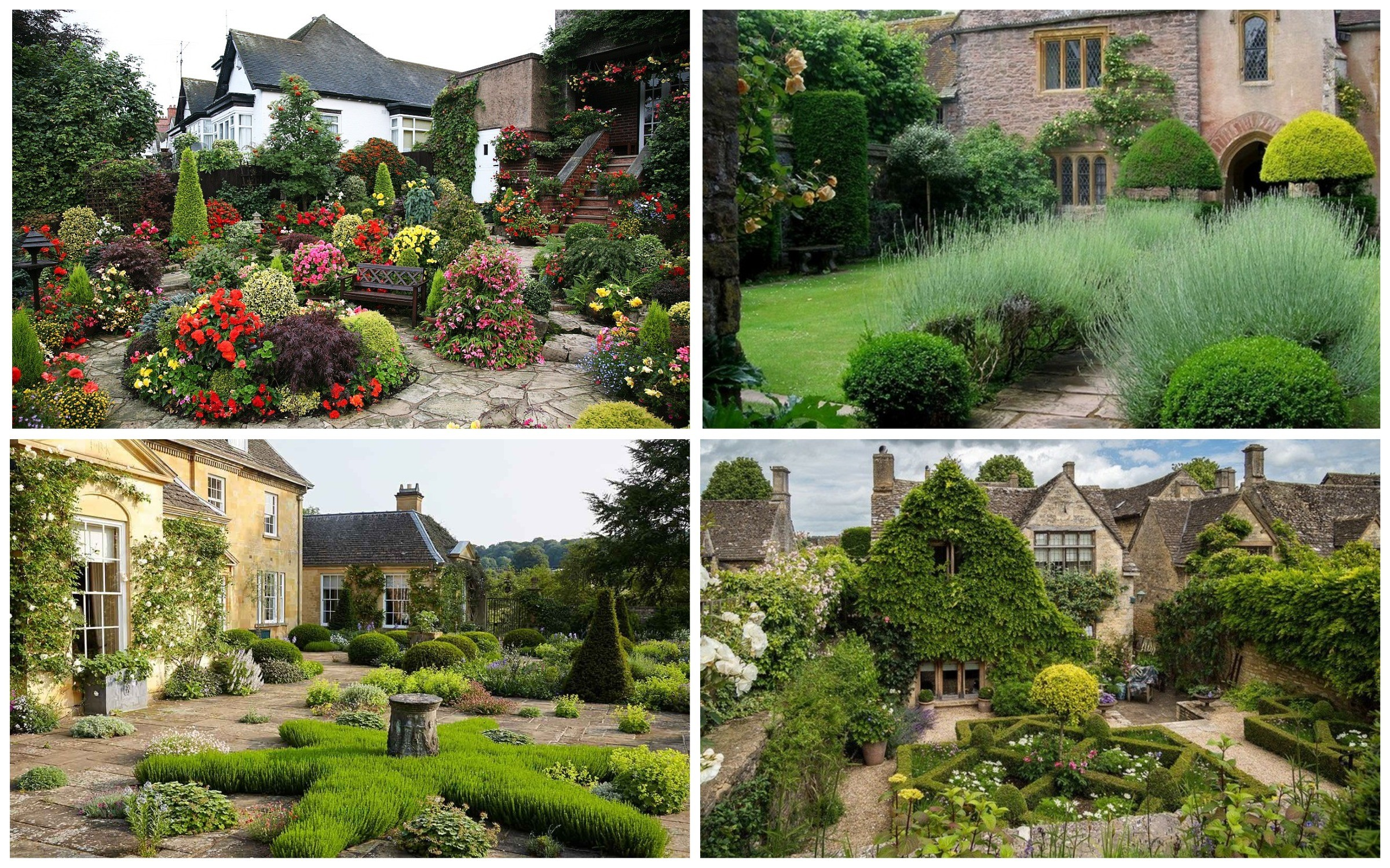 фото английский стиль сада