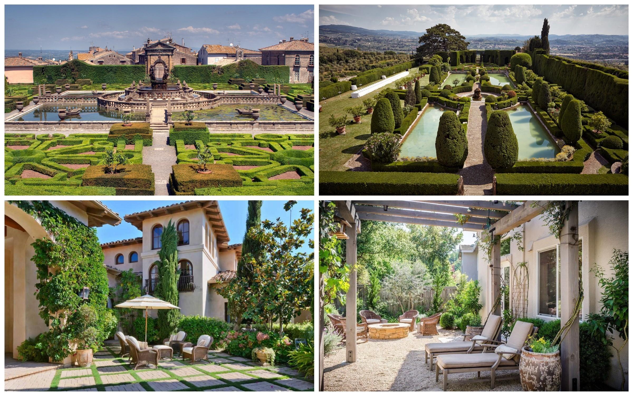 изображение итальянский стиль сада