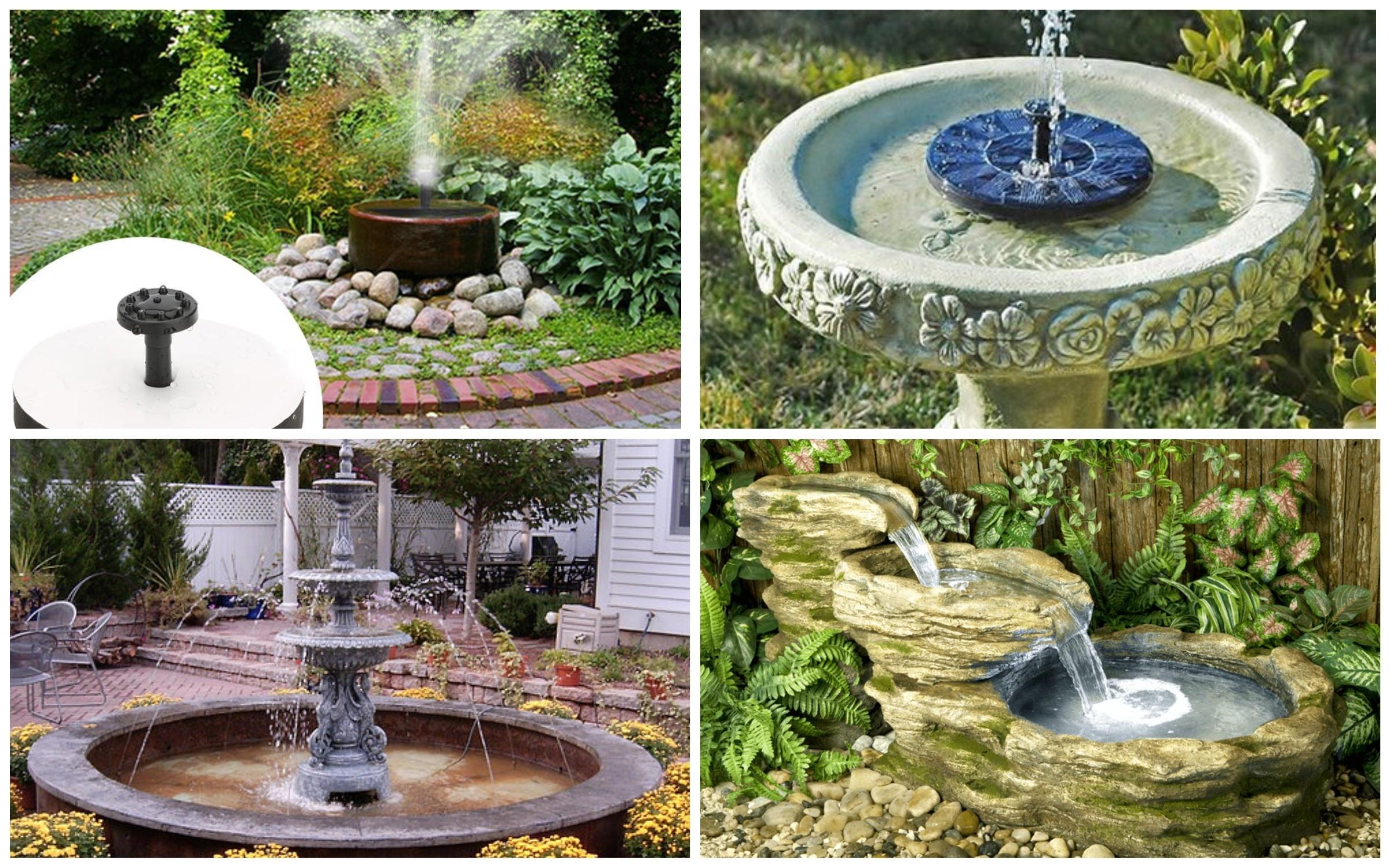 фото фонтаны в саду