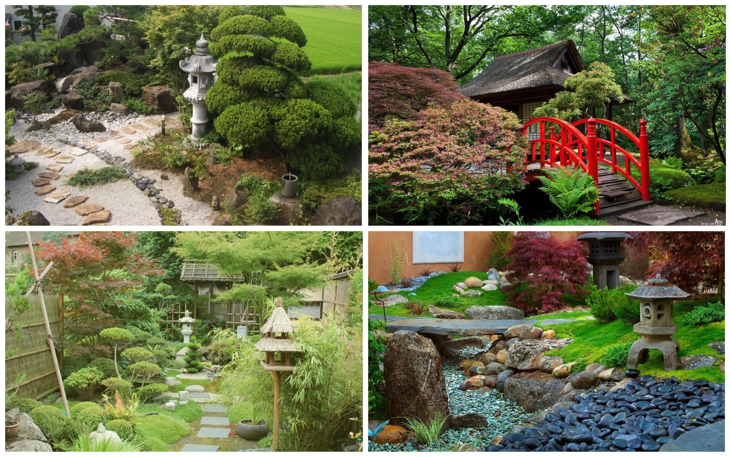 фото декоративные элементы в японском саду