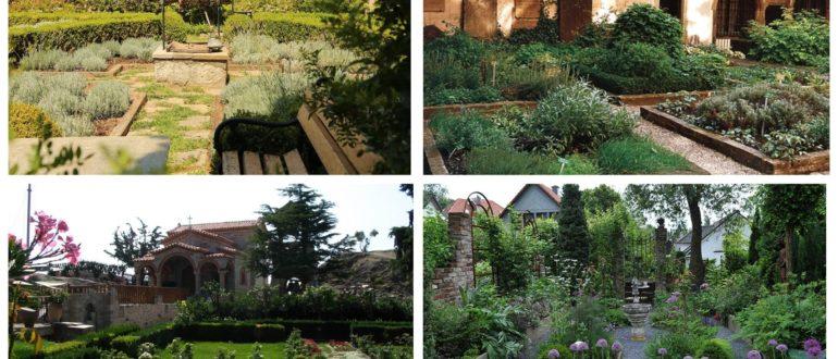 фото монастырский стиль сада
