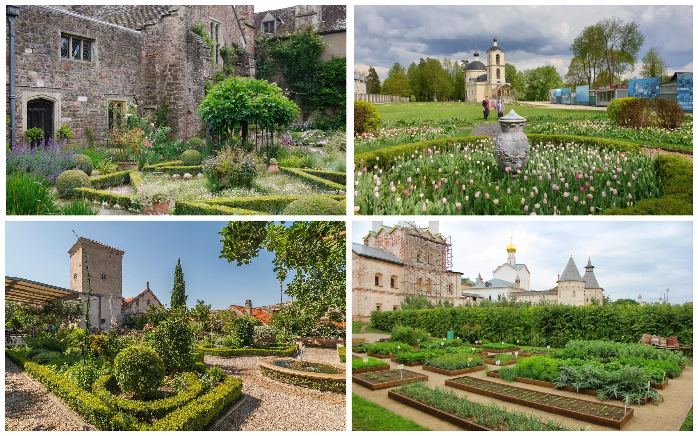 фото сад в монастырском стиле