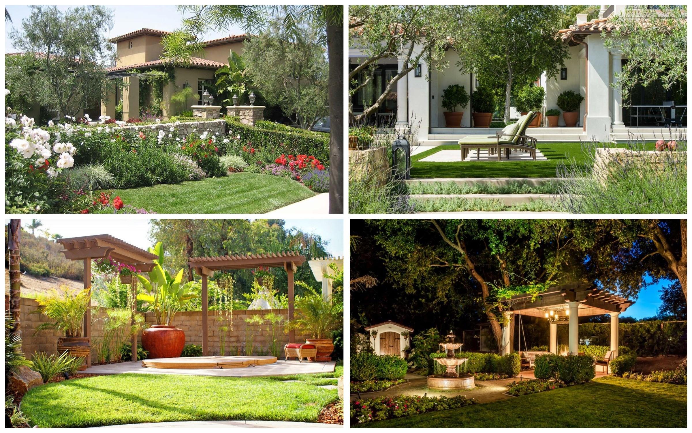 фото как устроен газон в итальянском саду
