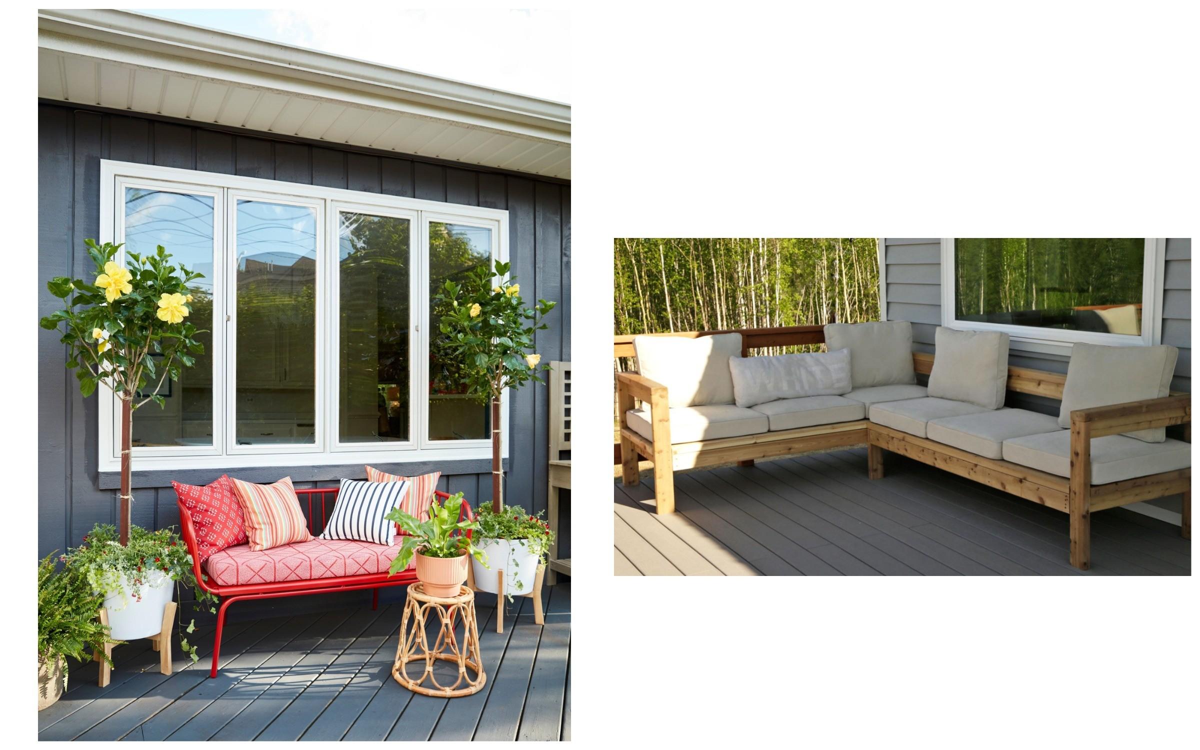 фото мебель для отдыха на улице
