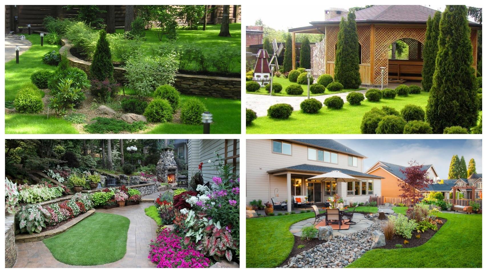 фото ландшафтный дизайн в саду