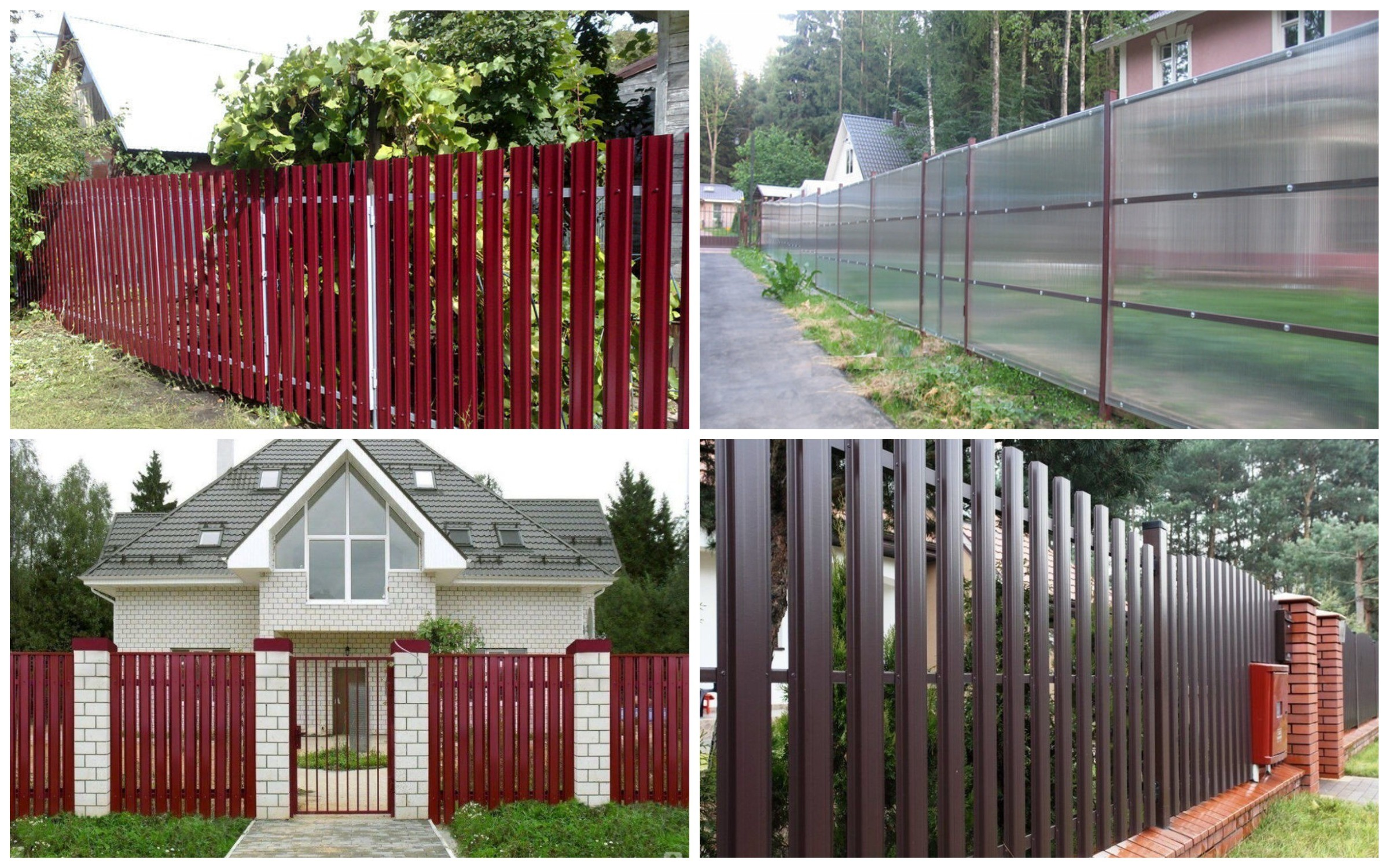 фото забор на даче